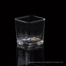 Großhandelsviereck-Votivglas-Kerzenhalter mit starkem Boden