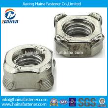 Нержавеющая сталь углеродистая сталь DIN928 squre Weld Nut, DIN928 сварочная гайка