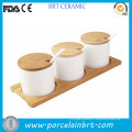 Кухня Канистра керамический приправа комплект с деревянной тарелка