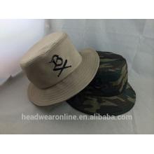Mode 100% coton Chapeau à godet en broderie de haute qualité
