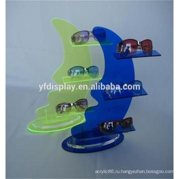Модный стиль акриловые дисплей полки для солнцезащитных очков