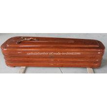 Квадратный стиль гроб для похорон продукции