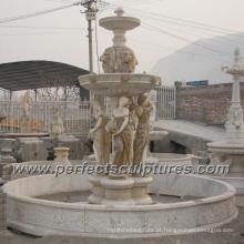 Fonte de água de mármore de pedra para a escultura do jardim (SY-F354)