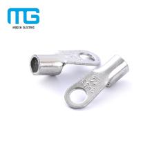 Conectores de terminales de anillo de alambre no aislados de cobre certificados CE para el cableado