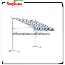 Outdoor manual retractable awning patio awning, portable awning