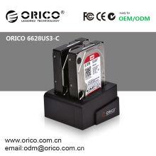 "ORICO 6628US3-C 2bay 2.5""&3.5""SATA HDD docking station/ USB 3.0 HDD clone duplicator/ Hard Drive caddy"