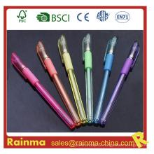 Plastik schwarzer Gel-Stift mit Highlight Farbtinte
