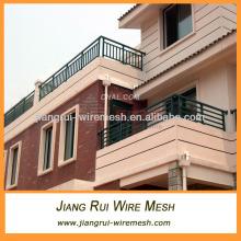 white black pvc coated balcony railing