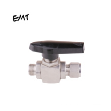 3 Way Ball Valves for Sale Stainless Steel EMT China Gas Pneumatic Bite Type Male Thread 1000 PSIG to 3000 PSIG -53~148 Degree