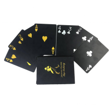 Wholesale PVC Gold/Silver/Black Foil Waterproof All Size Poker Custom Playing Cards