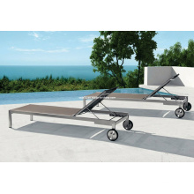 Patio Stainless Steel Sling Sunlounge