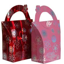 Saco de presente de compras de papel de alta qualidade de impressão personalizada para venda quente