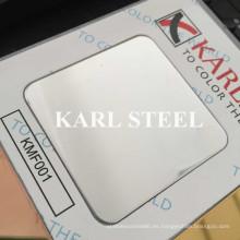 Hoja de espejo de color acero inoxidable 8k Kmf001 para materiales de decoración