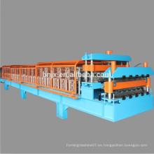 Panelroll de alta velocidad de la pared / de la azotea de la pared doble que forma la máquina