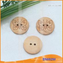 Естественные деревянные кнопки для одежды BN8029