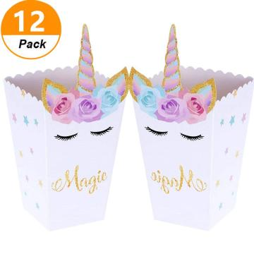 12 UNICORN PARTY FAVOR BOXES SET-0