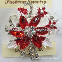 2015 Hot Sale High Quality Elegant flower Crystal rhinestone Brooches BR22