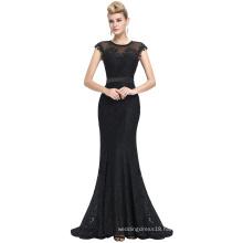 Starzz 2016 Newest Sleeveless Floor-Length Black Lace Evening Dress 8 Size US 2~16 ST000085-1