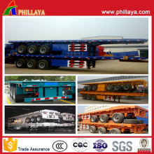Air Suspension 40ft Carbon Steel Semi Flatbed Container Trailer