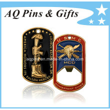 Bottle Opener Coin with Soft Enamel, Challenge Coin, Dog Tag
