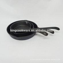 Pre-seasoned/vegetable oil cast iron fry pan /skillet with 2 ears