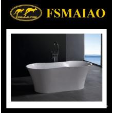 Banheira de banho de resina de pedra design moderno forma de barco (bs-8601)
