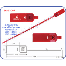 etiquetas de segurança de plástico BG-S-007, selos de contêineres, fechadura de porta