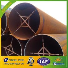 API 5L X65 LSAW tubería de acero al carbono / tubo