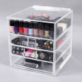 Conteneurs de stockage de maquillage en acrylique transparent
