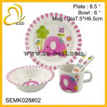 food safe melamine dinnerware set for children