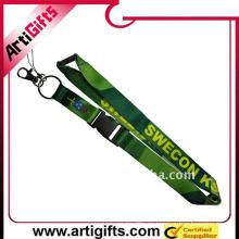 cuerda de transferencia de calor verde llavero de nylon