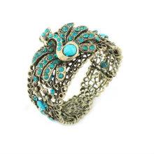 Bracelets et bracelets en résine de perles de strass Peacock strass BA29