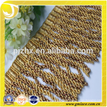 yellow stock Fringe for dresses and home decoration