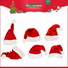Mini papai noel natal pelúcia chapéu para crianças Natal 2016