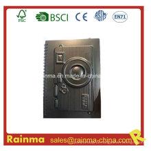 Schwarzes PVC-Papiernotizbuch mit Kamera-Form