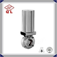 1 pouce pneumatique Stainless Steel Hygienic Sanitary Weld Butterfly Valves