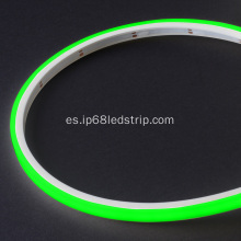 Evenstrip IP68 Dotless 1012 Verde Top Bend llevó la luz de tira