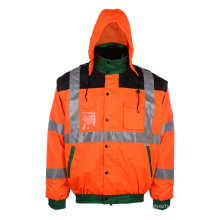 Winter Padding Reflective Jacket with Hood (EN CLASS 3)