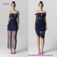 Hot Transparent aus der Schulter bestickt von Bust Abendkleid