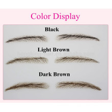real human hair lace or PU base eyebrows for reseller