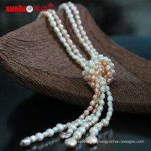 Art- und Weiseschmucksache-natürlicher frischer Wasser-barocker Perlen-langer Halsketten-Entwurf