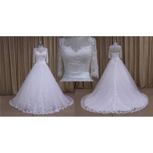 A Line 3/4 Sleeves Lace Bridal Dresses