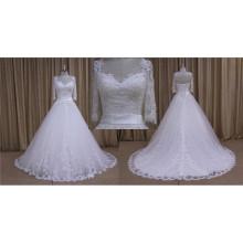 A Line 3/4 Sleeves Lace Vestidos De Noiva