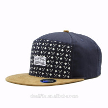 wholesale 5 panel camp cap and hat/blank flat brim 5 panel snapback hat/cap