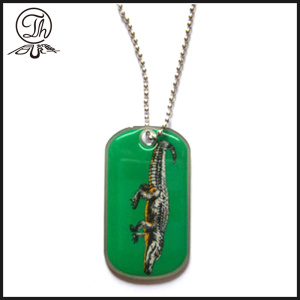 Epoxy dôme dog tag id collier bijoux