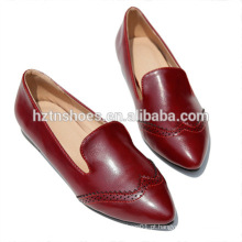 New Design Europeu vintage escultura sapatas oxfords britânico moda mulheres moda deslizamento em sapatas brogue sapatos casuais casual loafers