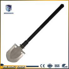 new products stainless steel camping shovel with flashlight