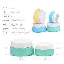 Tarro cosmético poner crema de la silicona 20ml
