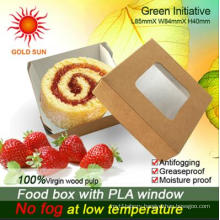 Fast Food Box Packaging with Antifogging Window (K85)