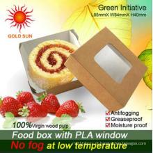 Embalagem de caixas de fast food com janela anti-embaciamento (K85)